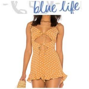 NWT Blue Life Retro Romper Primrose Polka Dot